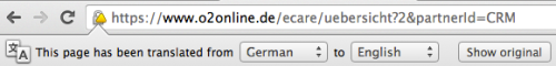 Chrome's translation bar